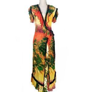 Jean Paul Gaultier Soleil Beach Print Wrap Dress